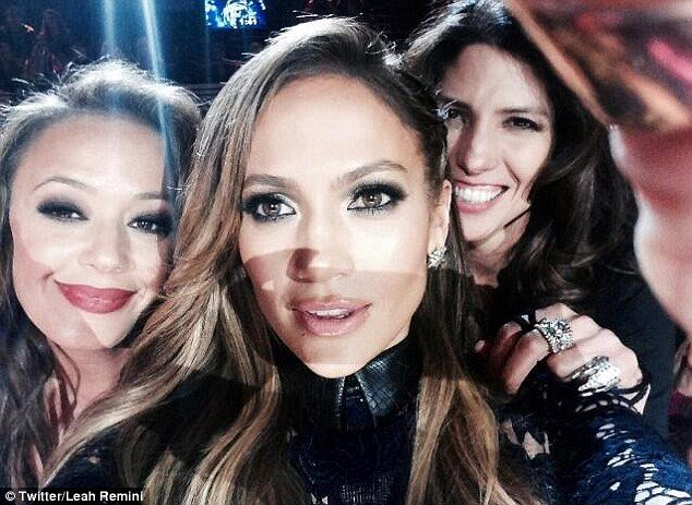Always time for a selfie: Leah posted a snap of herself, Jennifer and Lynda Lopez earlier ...