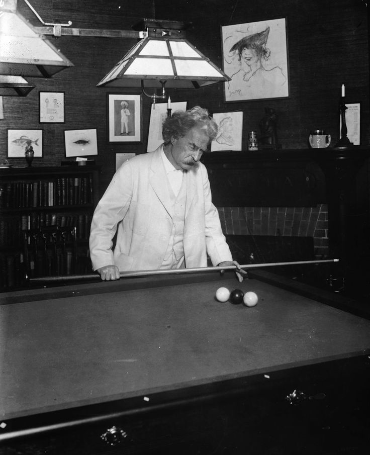 Did You Know Mark Twain Loved Billiards? Check Out These