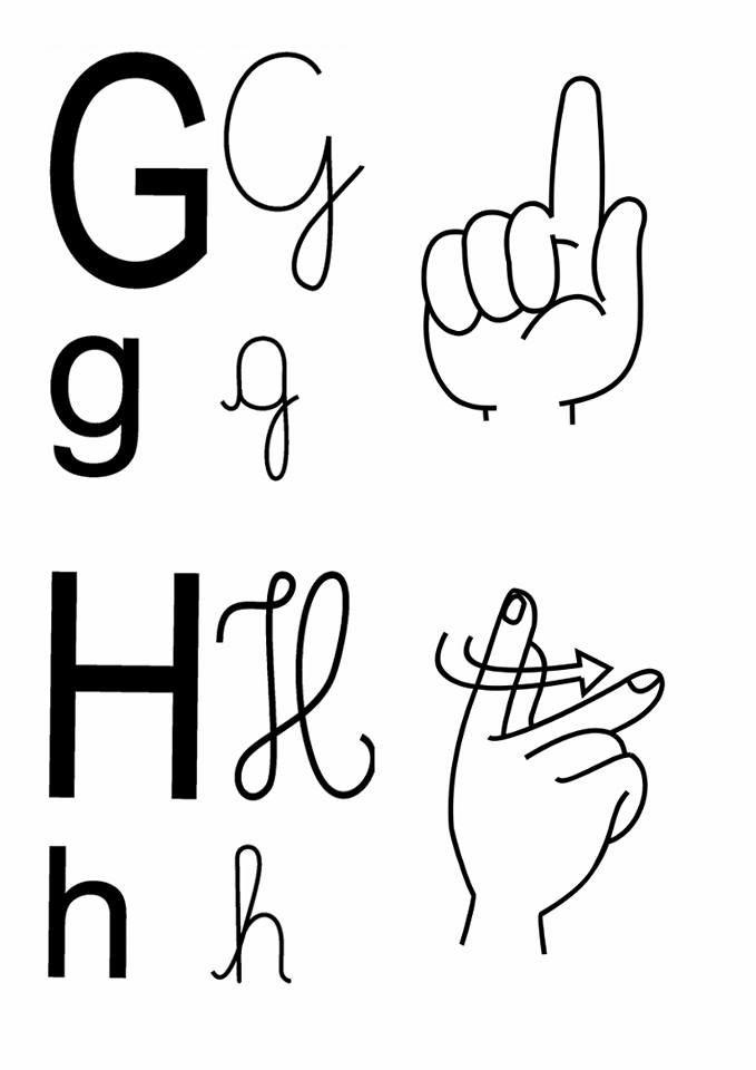 Alfabeto Em Libras Com 4 Tipos De Letras Letras Tipos De Letras