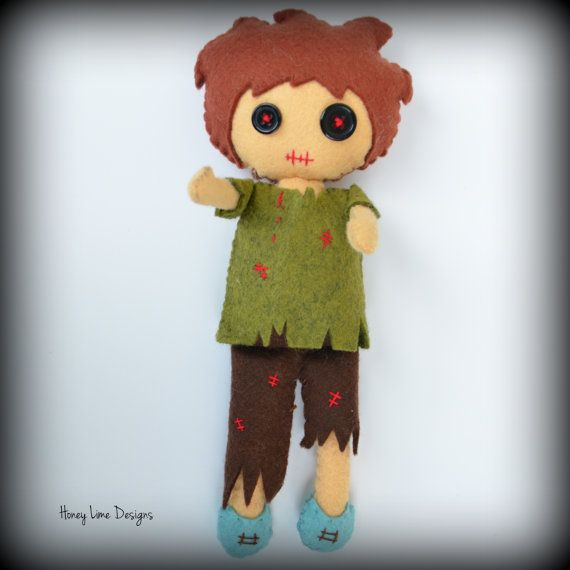 Zombie Felt Doll Pattern by honeylimedesigns on Etsy