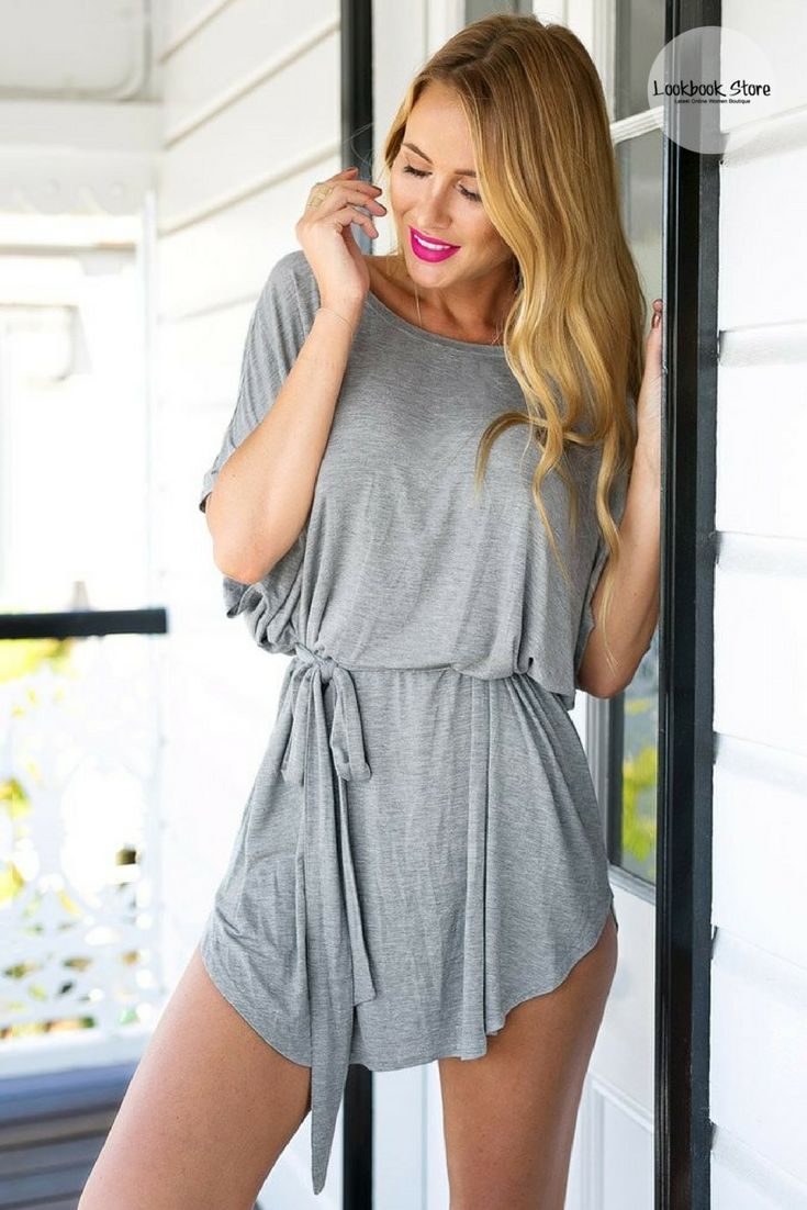 Fashion Steal // Crafted with comfort and style in mind, this grey t-shirt dress is something you'd want to add to your closet. Shop one here.