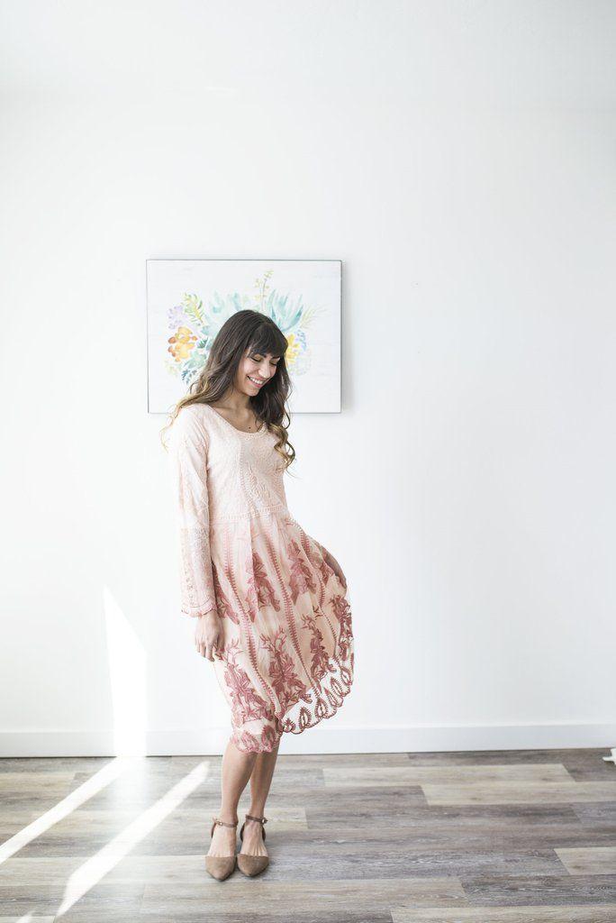 Dress, Women's Clothing, Boutique Clothing, Mauve Dress, Mauve, Utah Boutique, Online Boutique, Blush Lane  www.shopblushlane.com, Lace Dress, Lace, Dress, Lace Details , women's dress