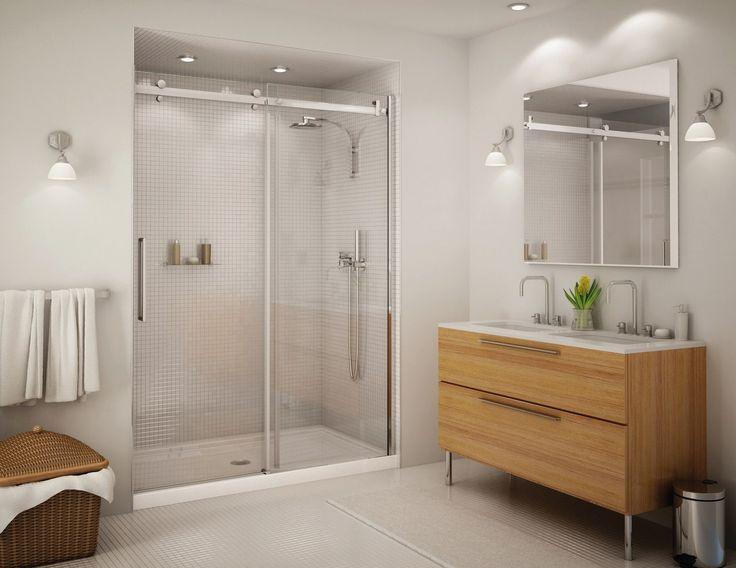 Прозрачные стеклянные перегородки и двери очень эффектно смотрятся в ванной. 😃👌Стеклянные двери в душ 🚿 помогают сохранить объем небольшого помещения, украсить его и сделать оригинальным и необычным. Кроме того, стекло не портится от воздействия влаги и высоких температур, сохраняет свои эстетические свойства на протяжении всего срока службы, его легко декорировать и за ним просто ухаживать. Рекомендуем ☝ #смесители #сантехника #дизайн #ванна…