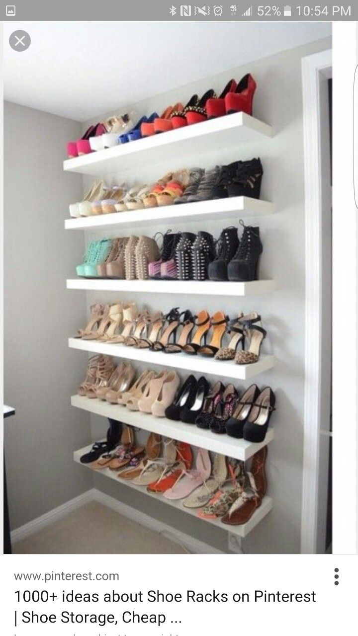 A shoe wall display might be whatu0027s