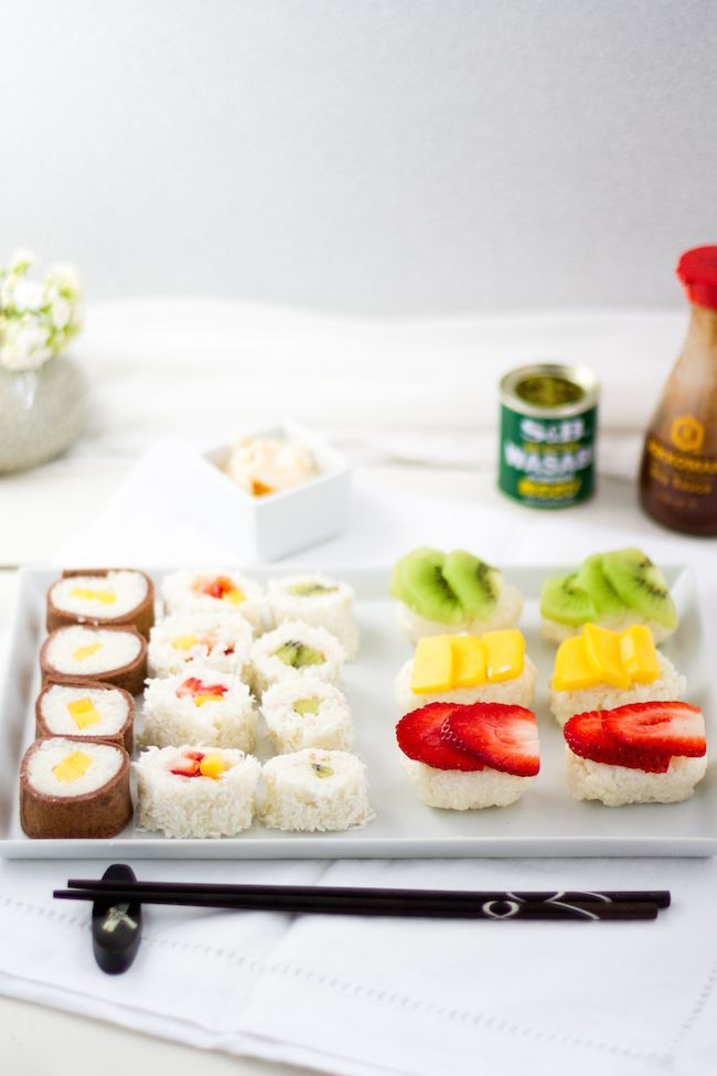 haseimglueck.de Rezept, Süße Sushi Platte 1