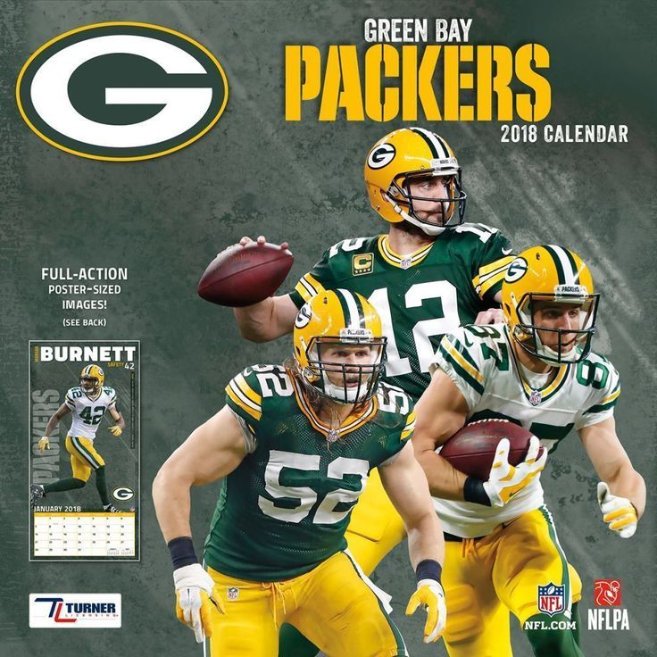 2018 NFL Green Bay Packers Team Wall Calendar Full Action Poster Sized Images #TurnerLicensing #GreenBayPackers