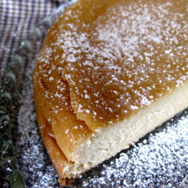 蜂蜜の焼きチーズケーキ。