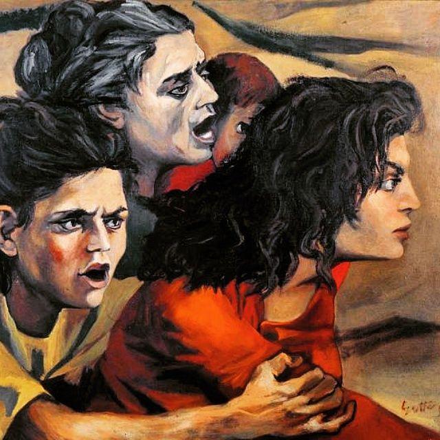 """""""Donne di zolfatari"""", 1950. Renato Guttuso"""