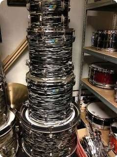1974 Ludwig Black Oyster for sale 24 x 14 13 x 9 16 x 16 18 x 16
