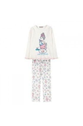 Fehér kétrészes pizsama