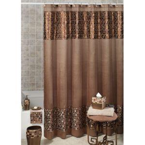 Zebra Print Shower Curtain Set