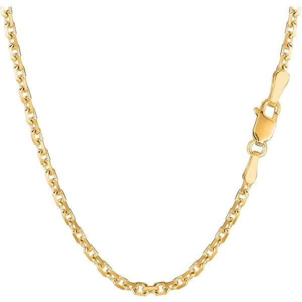 Jewelryaffairs 14k Yellow Gold Cable Link Chain Necklace, 3.1mm ($611) ❤ liked on Polyvore featuring men's fashion, men's jewelry, men's necklaces, yellow, mens gold link chain necklace, mens chain link necklace, mens chain necklace, mens gold chain necklace and mens gold necklace
