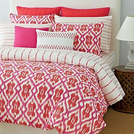 Tommy Hilfiger Comforter Set A Gorgeous Pink And Orange