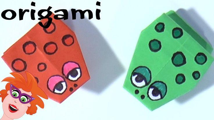 Origami: springende kikker vouwen van papier (moeilijk)