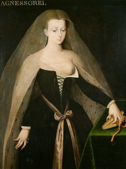 Agnès Sorel (1422 - 9 February 1450), Dame de beauté, mistress to