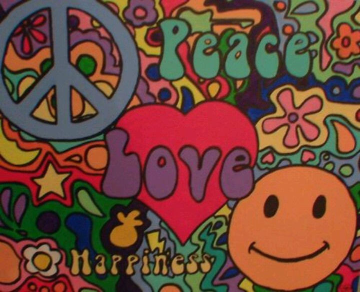 Vintage Psychedelia Peace Love And Happiness Psychedelia Peace New Love Peace Happiness