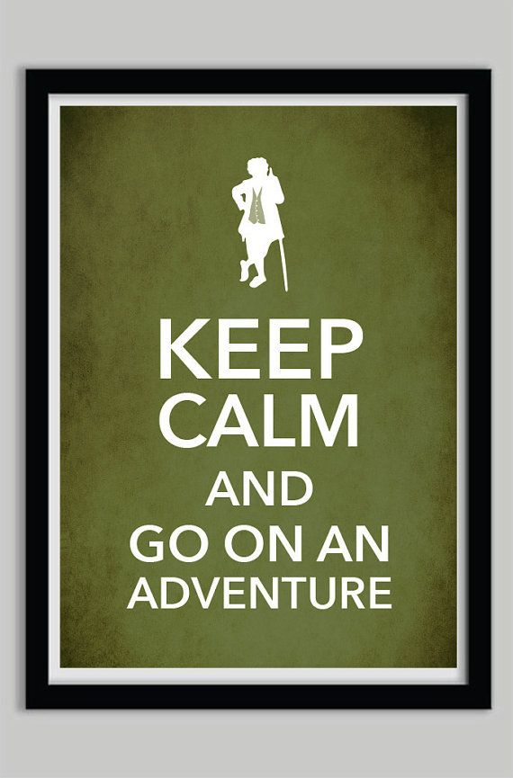 Keep Calm The Hobbit Typography Poster Print by POSTERED on Etsy, $17.00