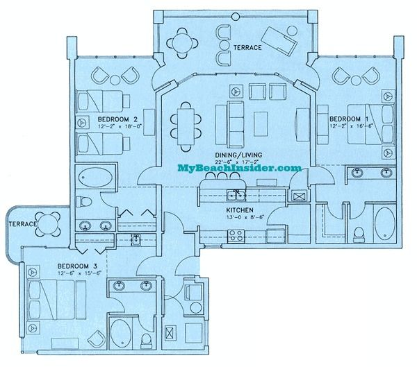 2 Bedroom Condos In Panama City Beach: Best 25+ Condo Floor Plans Ideas On Pinterest