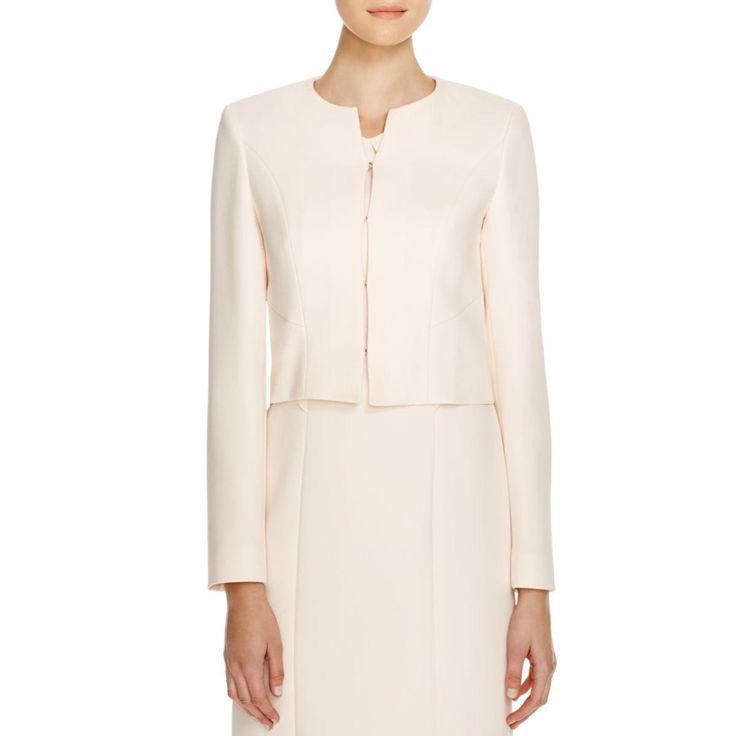 BOSS Hugo Boss Womens Textured Lined Crop Blazer
