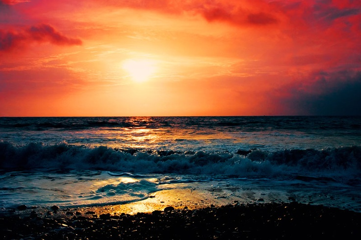 sea: Awesome Pics, Color, Sea Nature, Beautiful Places, Beautiful Sea, Beautiful Sunset, Awesome Sky, Beach, Sea Beautiful