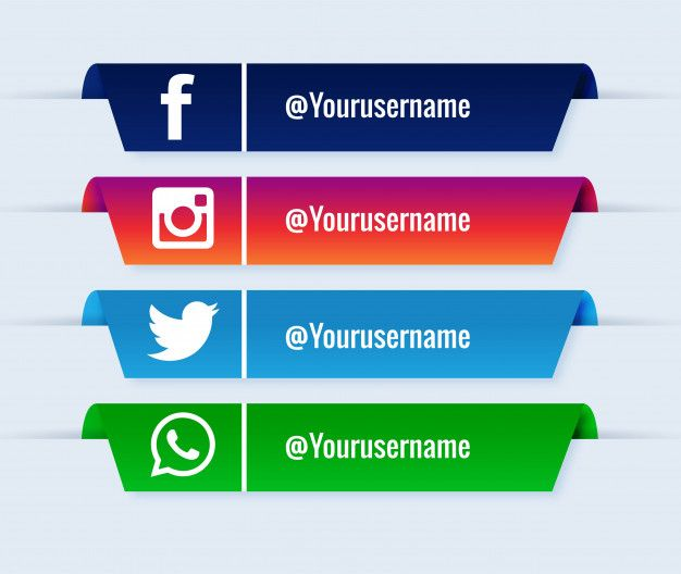Download Social Media Lower Thirds Popular Collection Set For Free Logo Design Free Templates Social Media Banner Social Media