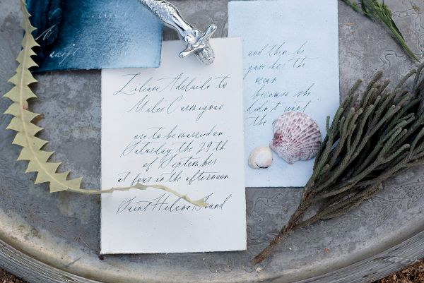 Watercolor Calligraphy Stationery Suite    #wedding #weddings #weddingideas #aislesociety #coastalwedding #bluewedding