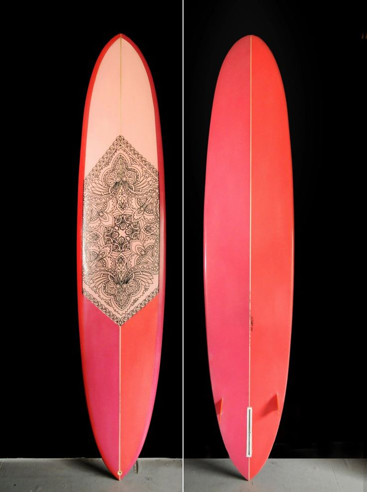 Custom surfboard by Hawaiian artist Keith Tallett.
