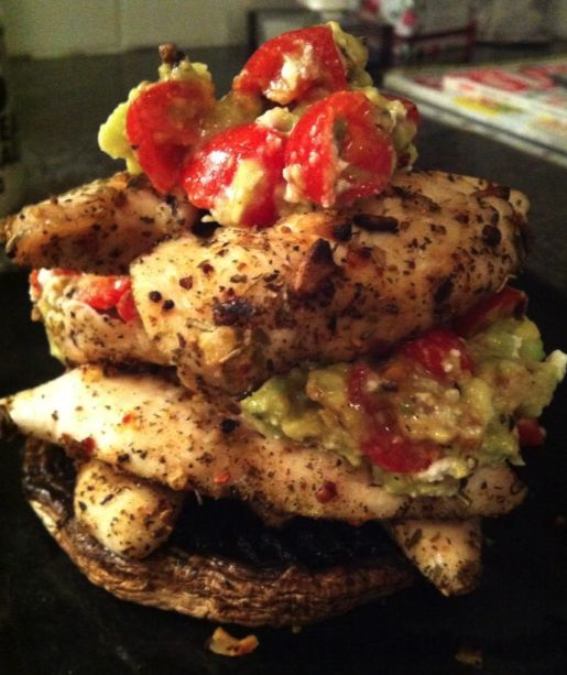 Moroccan spiced chicken stack, dis njammie!