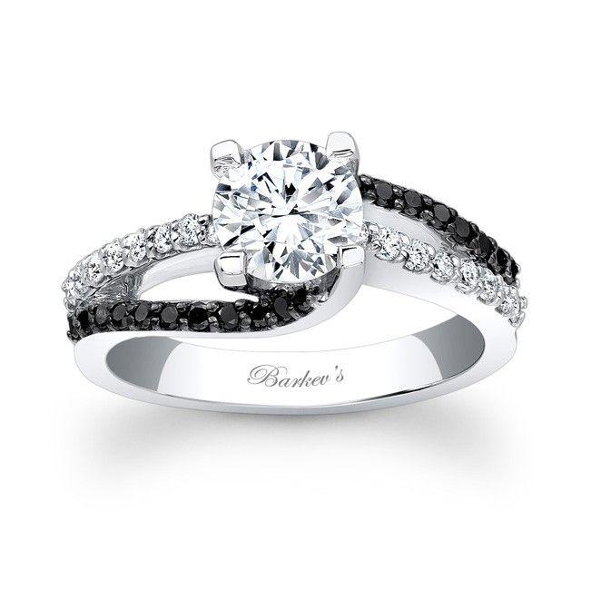 Barkev's Black Diamond Engagement Ring 7677LBK