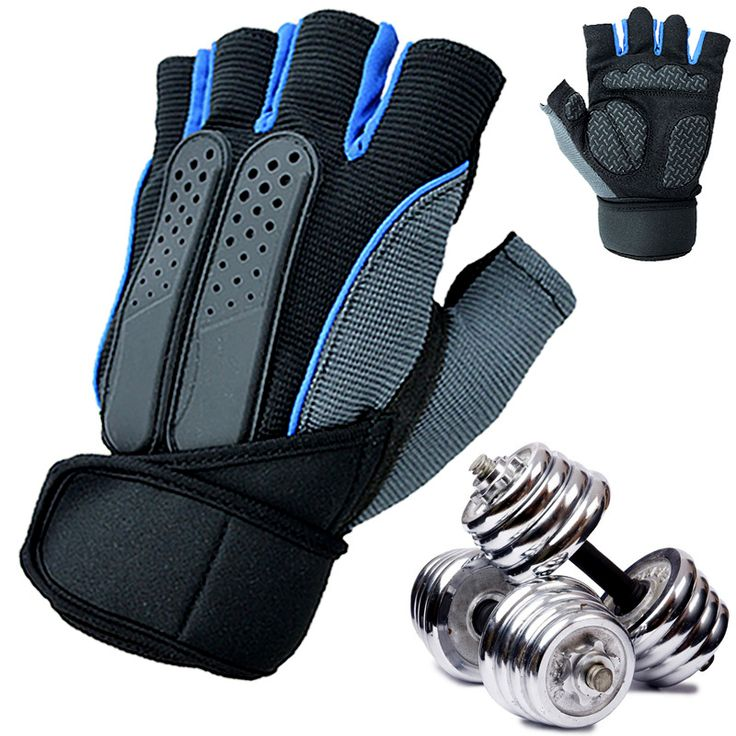 Crossfit Men Weight Lifting Gym Fitness Workout Training Dumbbell Exercise Half Gloves 19-22cm
