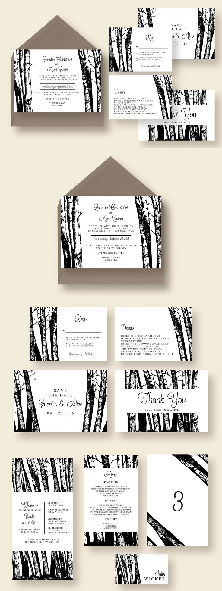 free wedding invitation psd%0A Walk in the Woods Wedding Suite PSD  Invitation