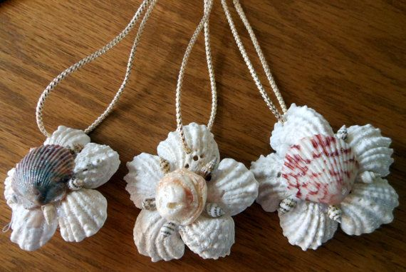 Sea Shell Ornaments Holiday set of 3 by TimelessTreasuresbyB