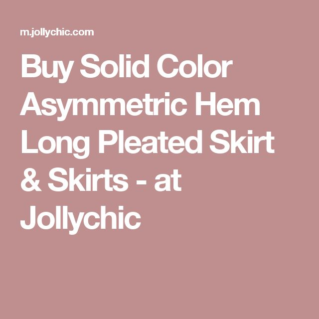 Buy Solid Color Asymmetric Hem Long Pleated Skirt & Skirts - at Jollychic