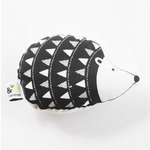 Hand printed hedgehog rattle #ohswag #babytoys #oneofakind