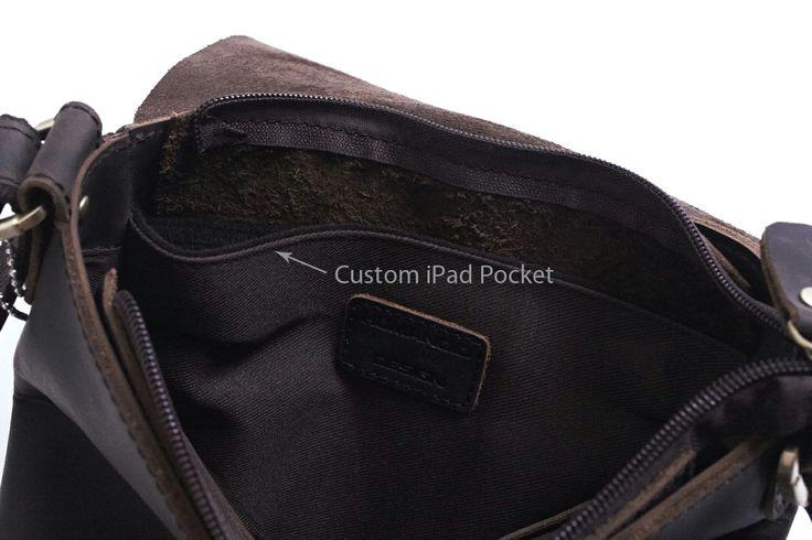 Custom iPad Pocket #bag #ipad #leather