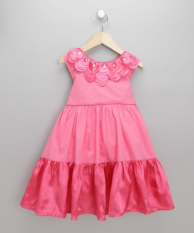 Take a look at this Coral Pink Gianna Dress - Toddler & Girls by Tutu Moi on #zulily today!