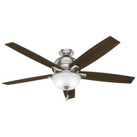 hunter 60 inch donegan bowl light brushed nickel ceiling fan with light silver - Coole Deckenventilatoren Fr Kinder