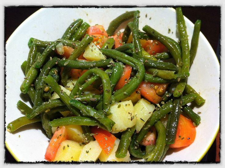 Insalata fagiolini,pomodori e patate