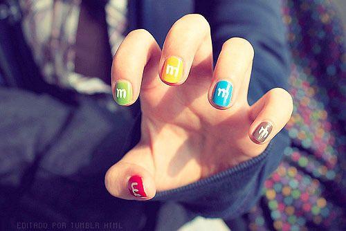 this is absolutley ADORABLE: Idea, Nailart, M M Nails, Mms, M Ms, Nail Design, Beauty, Hair, Nail Art