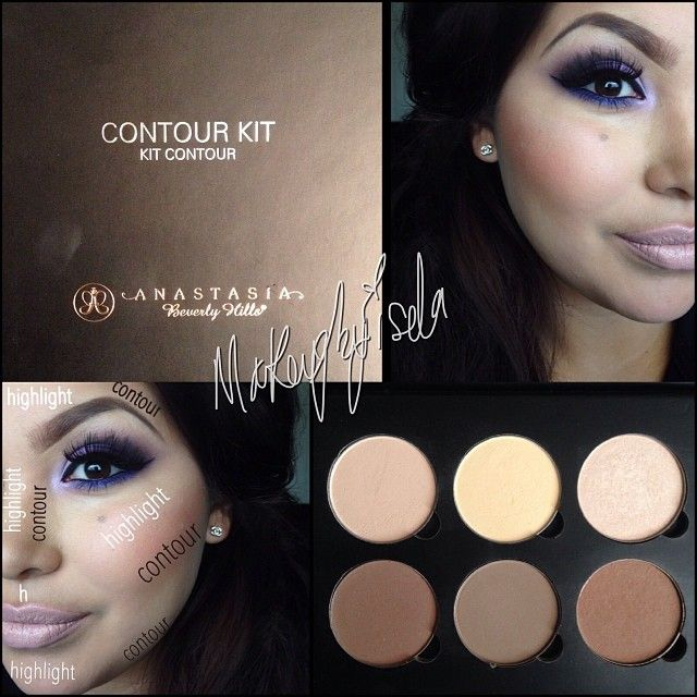 Contouring is key when doing your makeup! You can have your brows, eyes foundation done powder set, but you don't contour your face it will just look FLAT, when contouring you always want to Contour what you want to hide and Highlight what you want to bring out  so here's a little demo on how to contour your face. I am using this AMAZING palette by @anastasiabeverlyhills