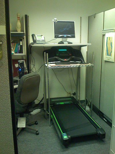 Make a treadmill desk DIY examples | curated by WorkWhileWalking.com