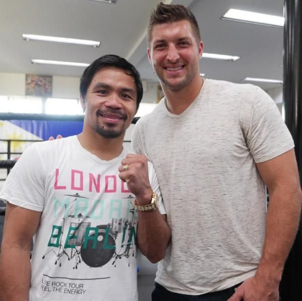 Pacquiao got a special visitor at Wild Card Gym as he ramps up for his fight with Mayweather.
