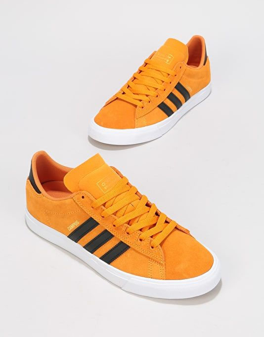 more photos best value exclusive deals Adidas Campus Vulc II Skate Shoes - Real Gold/Black/White ...