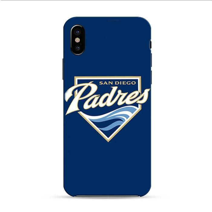 Sandiego Padres Baseball Logo Blue iPhone X 3D Case