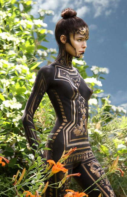 fantasy character inspiration #tribal #fierce