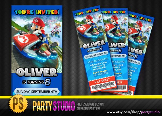 69 best images about mario party – Mario Kart Party Invitations