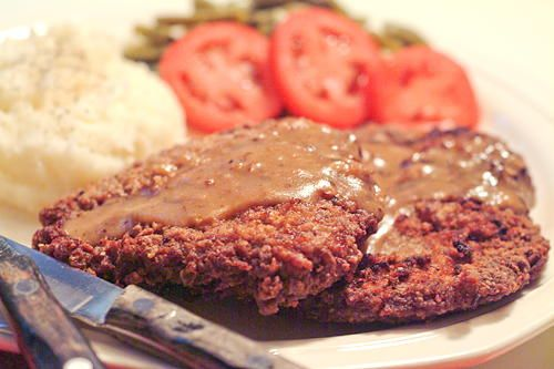 Lana's Country Fried Steak   You'll never find a better country fried steak recipe than this! This Southern dinner recipe deserves to be served with homemade brown gravy and mashed potatoes.
