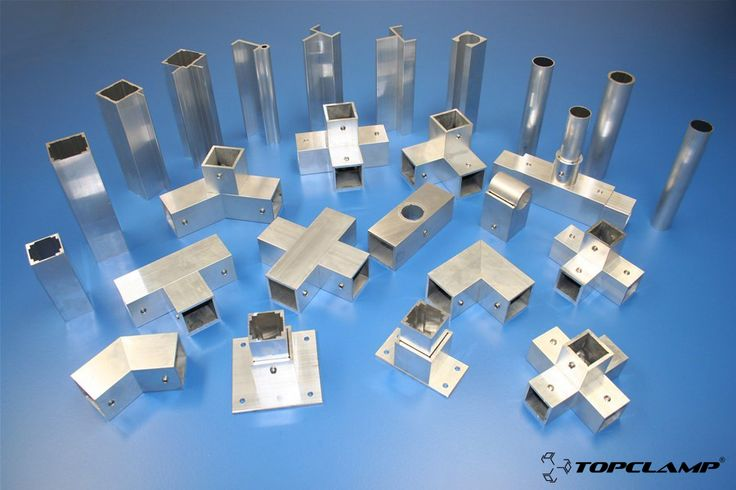 Topclamp square tube connectors / couplings / joints / fittings / corner pieces & profiles / tubes