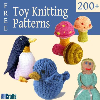 Over 200 free toy knitting patterns.