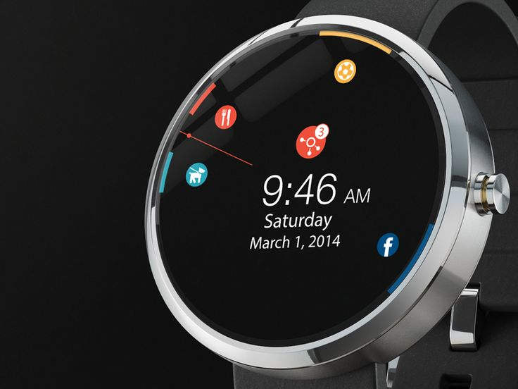 Smart Watch Calendar App UI | Weable Tech User Interface Design